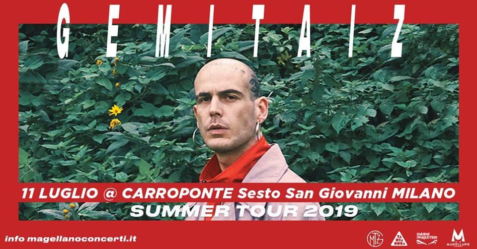 Gemitaiz, locandina concerto 11 luglio al Carroponte